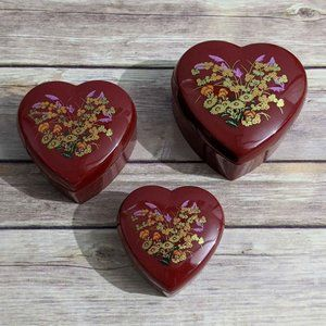 Vintage Nesting Heart Boxes
